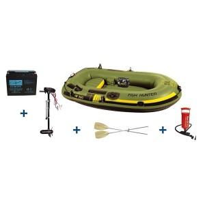 Schlauchboot mit Elektromotor Test